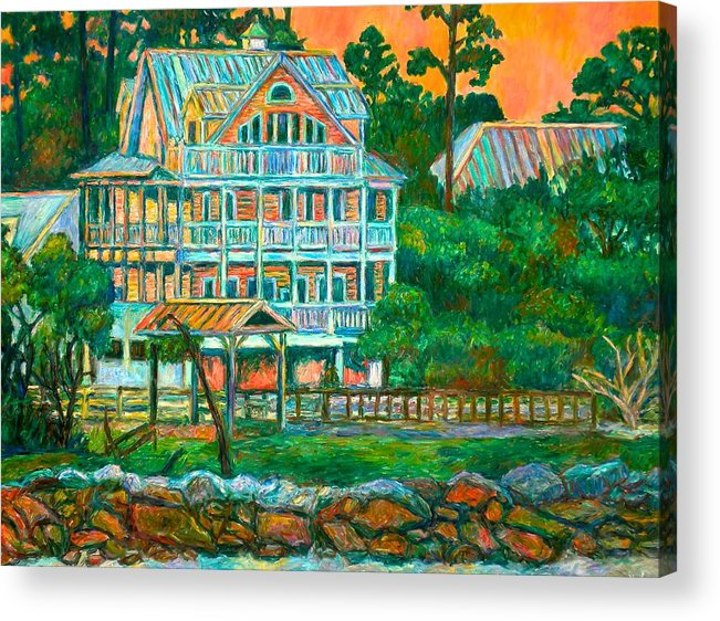 Landscape Acrylic Print featuring the painting Pawleys Island Evening by Kendall Kessler