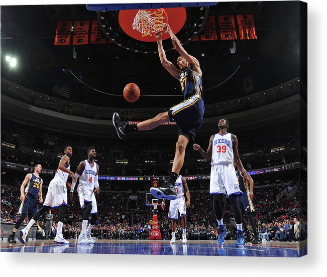 Nba Pro Basketball Acrylic Print featuring the photograph Rudy Gobert by Jesse D. Garrabrant