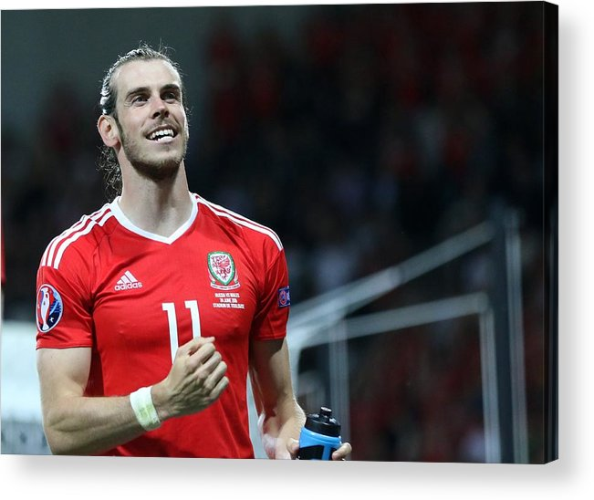 International Match Acrylic Print featuring the photograph Russia v Wales - EURO 2016 by Anadolu Agency