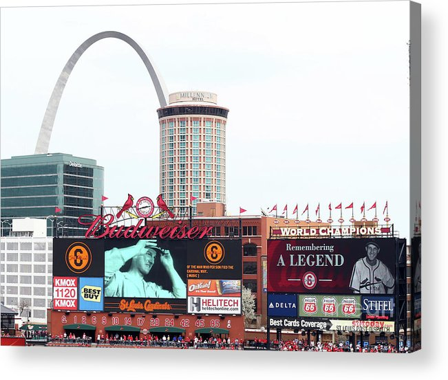 St. Louis Cardinals Acrylic Print featuring the photograph Stan Musial by Elsa