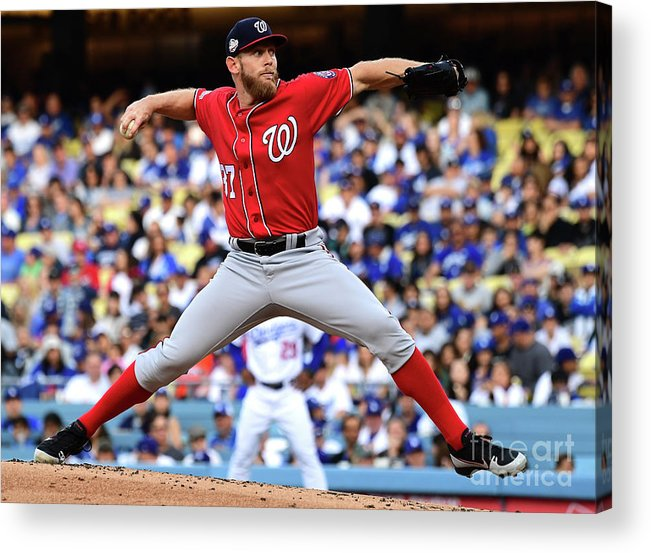 People Acrylic Print featuring the photograph Stephen Strasburg by Jayne Kamin-oncea