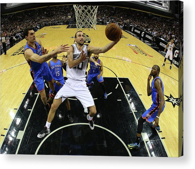 Playoffs Acrylic Print featuring the photograph Steven Adams by Ronald Martinez