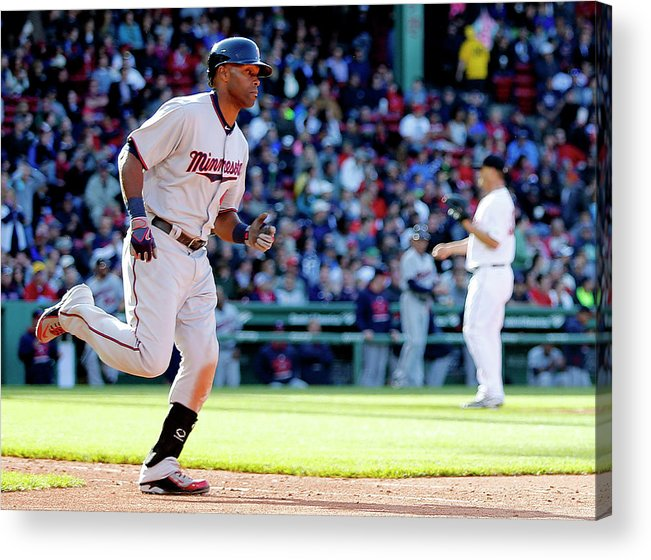 People Acrylic Print featuring the photograph Torii Hunter by Winslow Townson
