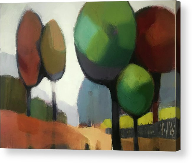 Tree Acrylic Print featuring the painting Untitled II by Farhan Abouassali
