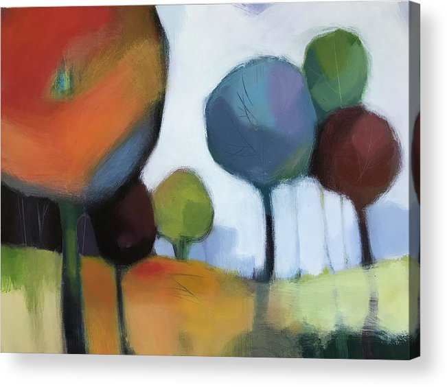 Landscape Acrylic Print featuring the painting Untitled III by Farhan Abouassali