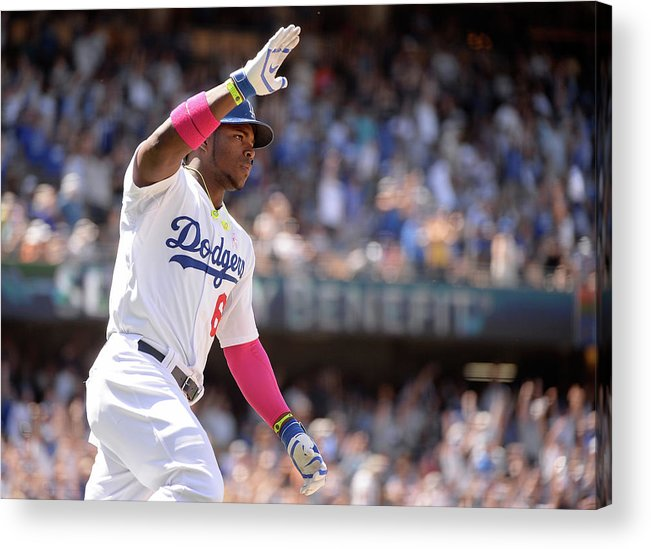 American League Baseball Acrylic Print featuring the photograph Yasiel Puig by Harry How