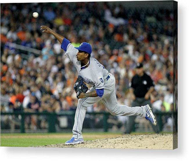 People Acrylic Print featuring the photograph Yordano Ventura by Duane Burleson