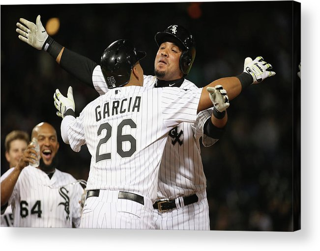 People Acrylic Print featuring the photograph Detroit Tigers V Chicago White Sox by Jonathan Daniel