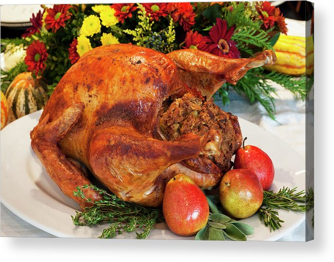 Stuffed Acrylic Print featuring the photograph Roast Turkey by Tetra Images