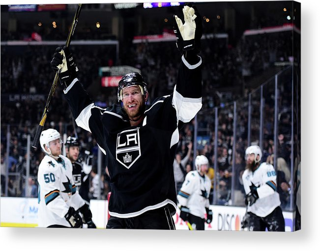Playoffs Acrylic Print featuring the photograph San Jose Sharks V Los Angeles Kings - by Harry How