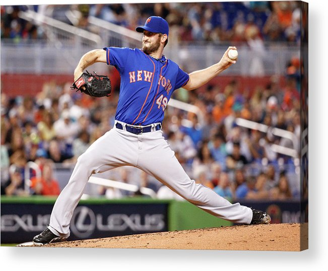Second Inning Acrylic Print featuring the photograph New York Mets V Miami Marlins by Rob Foldy
