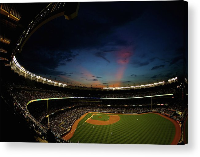 American League Baseball Acrylic Print featuring the photograph New York Mets V New York Yankees by Al Bello