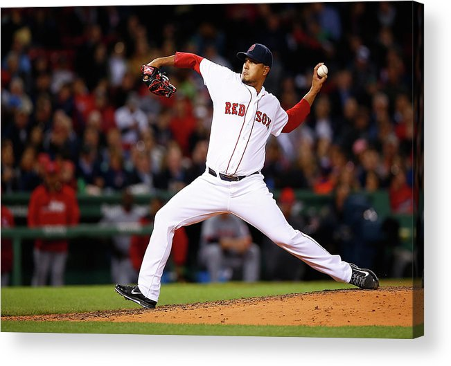 American League Baseball Acrylic Print featuring the photograph Cincinnati Reds V Boston Red Sox by Jared Wickerham