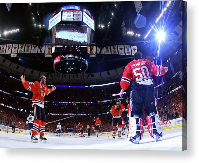 Playoffs Acrylic Print featuring the photograph 2015 Nhl Stanley Cup Final - Game Six by Bruce Bennett