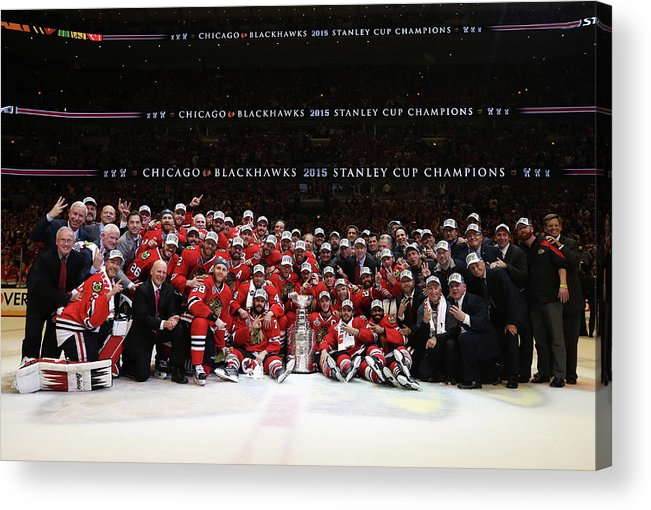 Playoffs Acrylic Print featuring the photograph 2015 Nhl Stanley Cup Final - Game Six by Dave Sandford