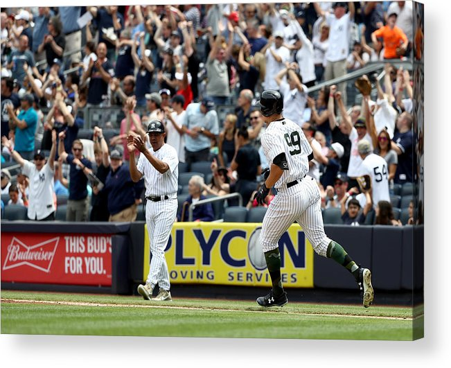 People Acrylic Print featuring the photograph Oakland Athletics v New York Yankees by Elsa