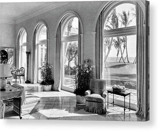 Palm Beach Acrylic Print featuring the photograph A House In Palm Beach by Samuel H. Gottscho