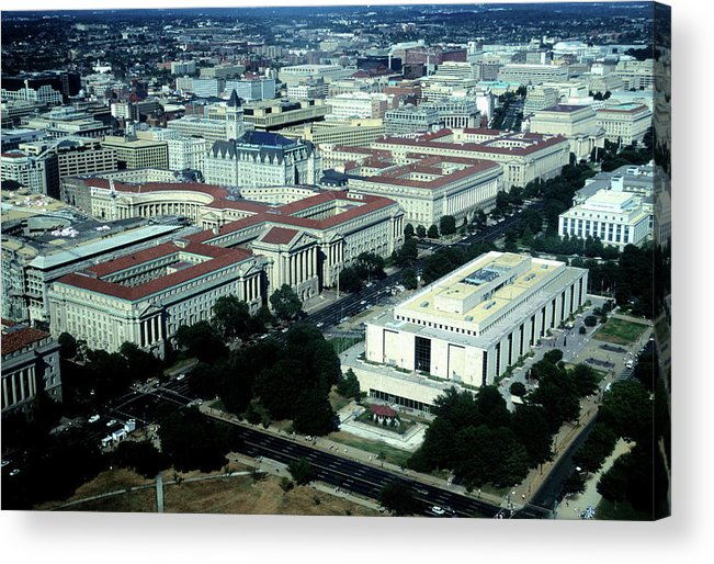 Downtown District Acrylic Print featuring the photograph Aerial View Of Constitution Avenue by Hisham Ibrahim
