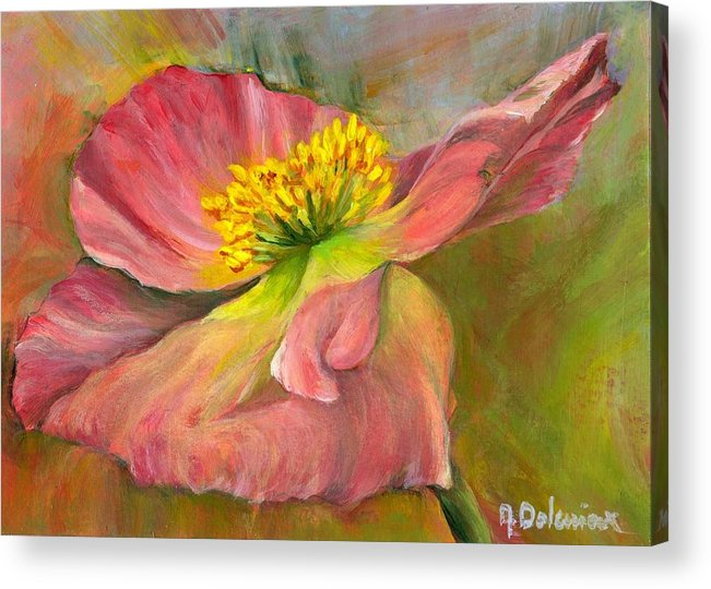Acrylic Acrylic Print featuring the painting Anemone by Muriel Dolemieux