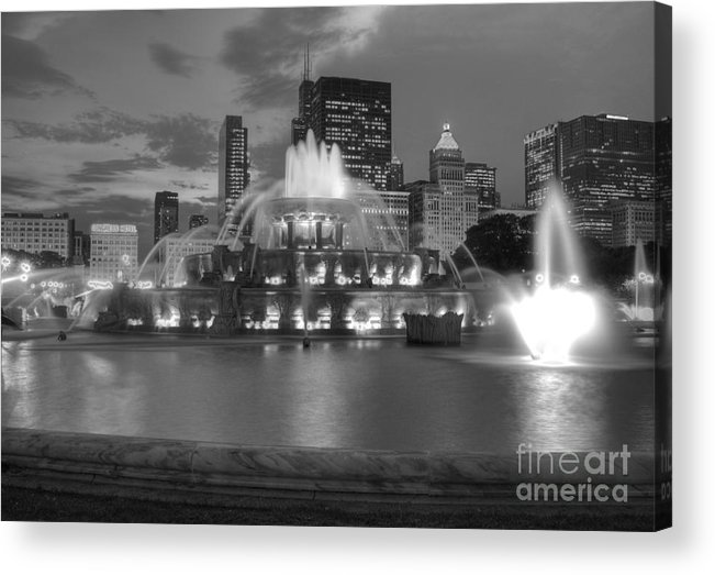 Hdr Acrylic Print featuring the photograph Black and White Buckingham by David Bearden