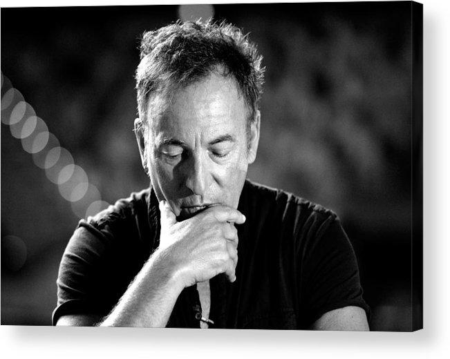 Bruce Springsteen Acrylic Print featuring the photograph Bruce Springsteen Media Call by Bradley Kanaris