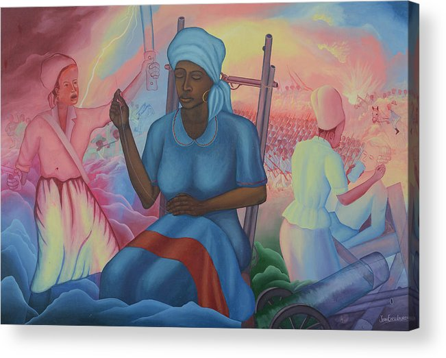 Freedom Ladies Acrylic Print featuring the painting Catherine Flon by Jean E Laurent