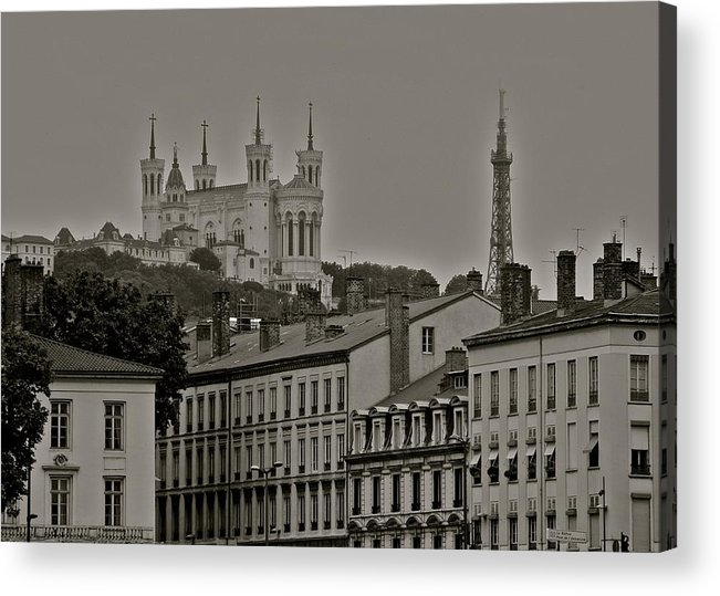 Classic Architecture In Lyon Acrylic Print featuring the photograph Classic Architecture in Lyon France by Kirsten Giving