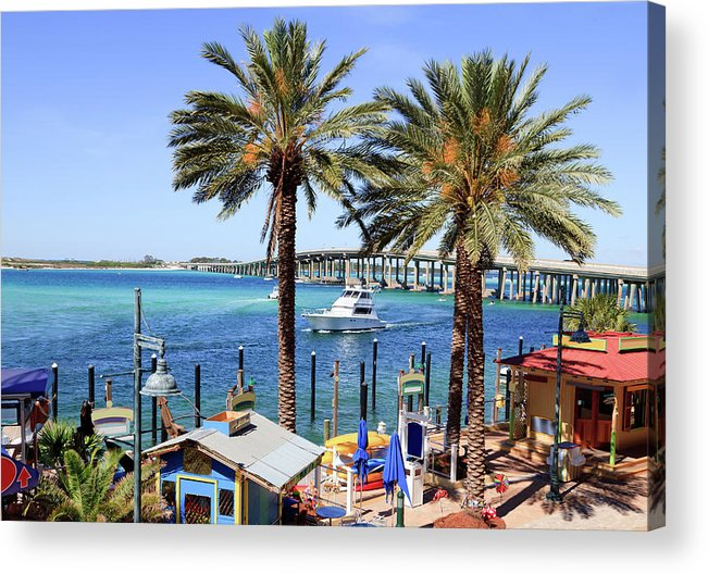 Bay Of Water Acrylic Print featuring the photograph Coastal Waters Around Destin Florida by Ghornephoto