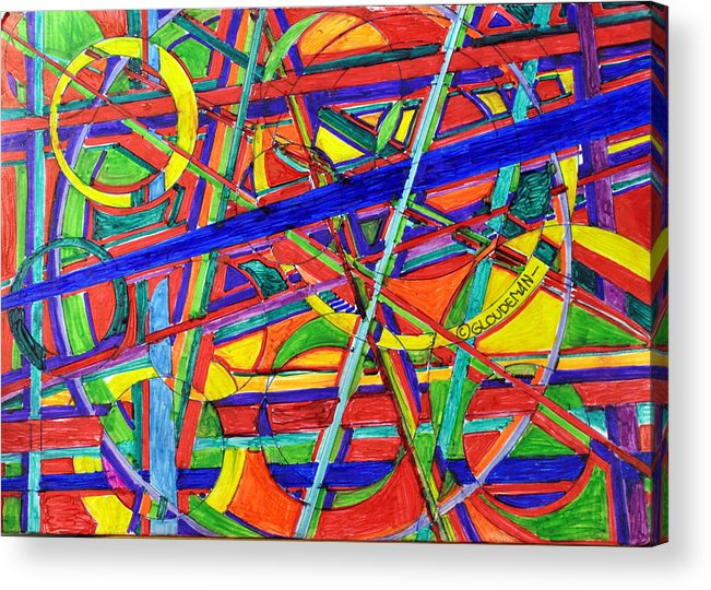 Acrylic Print featuring the drawing Colorful by Denis Gloudeman