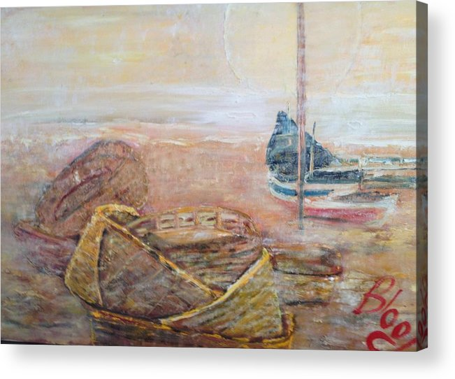 Beach Acrylic Print featuring the painting Colva by Peggy Blood