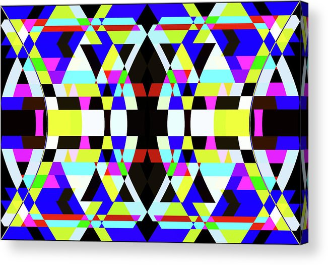 Rectangle Acrylic Print featuring the digital art Creative Shapes Abstract Design by Raj Kamal