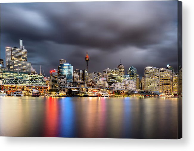 Outdoors Acrylic Print featuring the photograph Darling Harbour, Sydney - Australia by Atomiczen