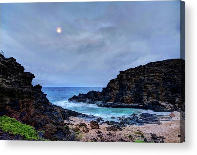 Tranquility Acrylic Print featuring the photograph Full Moon In The Clouds by Julie Thurston