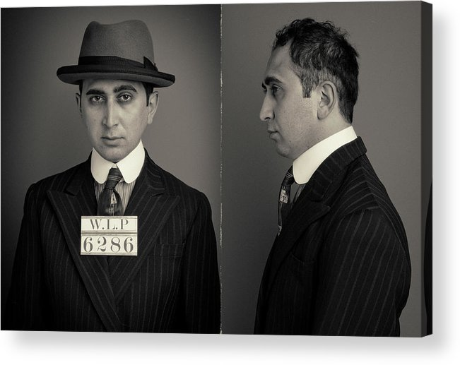 Guilt Acrylic Print featuring the photograph Hakan The Boss Wanted Mugshot by Nick Dolding