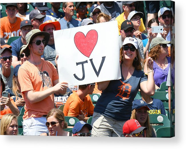 Crowd Acrylic Print featuring the photograph Houston Astros v Detroit Tigers by Mark Cunningham