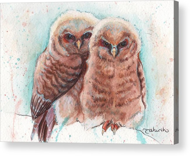 Wildlife Acrylic Print featuring the painting In Cahoots by Tahirih Goffic
