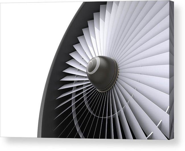 Engine Acrylic Print featuring the photograph Jet Turbine by Klenger