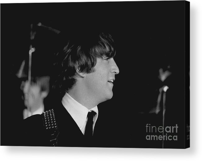 Beatles Acrylic Print featuring the photograph John Lennon, Beatles Concert, 1964 by Larry Mulvehill