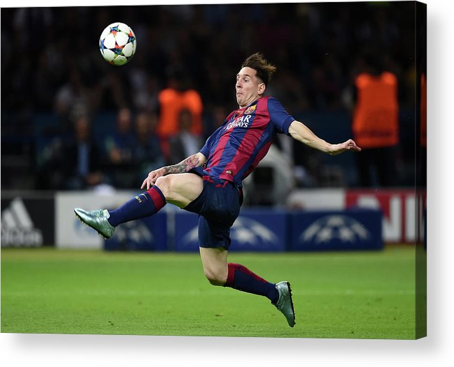 People Acrylic Print featuring the photograph Juventus V FC Barcelona - Uefa by Matthias Hangst