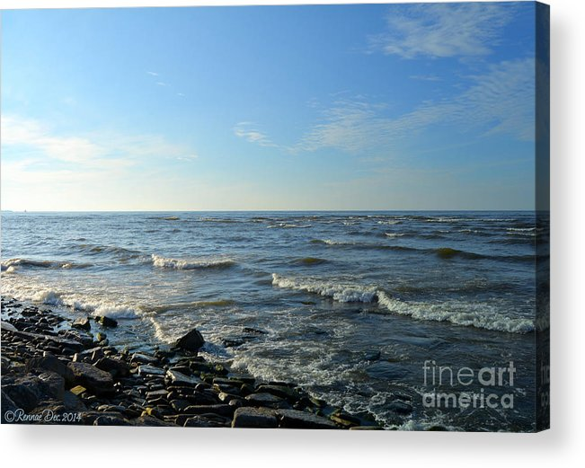Lake Acrylic Print featuring the photograph Lake Ontario December by Rennae Christman