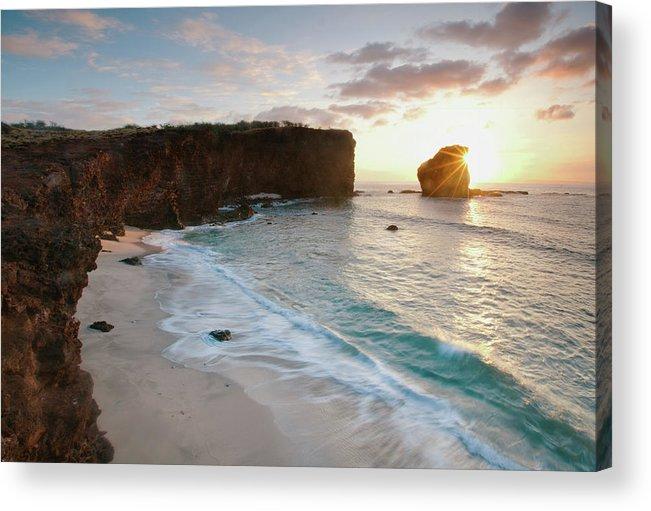 Scenics Acrylic Print featuring the photograph Lanai Sunset Resort Beach by M Swiet Productions