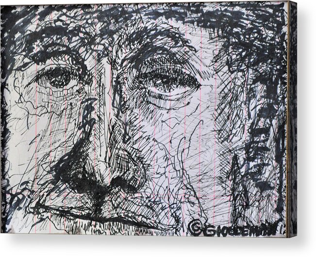 Another Person Looking For A Job Acrylic Print featuring the drawing Looking for a job by Denis Gloudeman