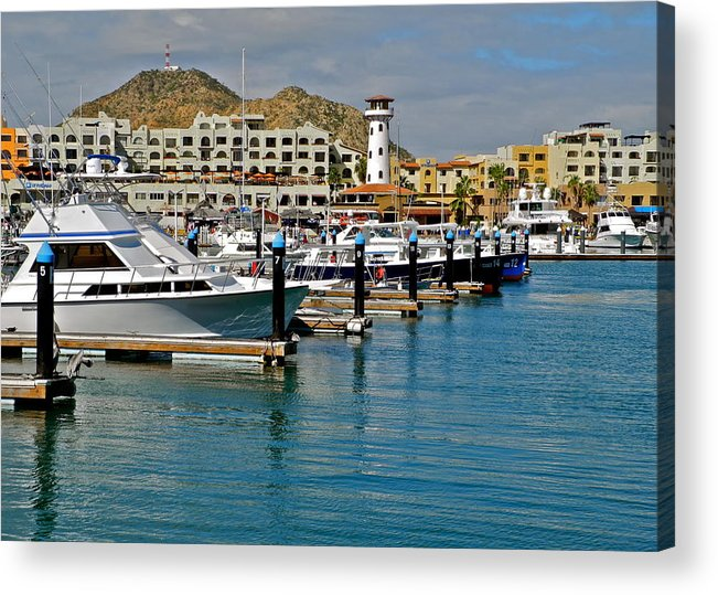 Marina Acrylic Print featuring the photograph Marina in Cabo San Lucas by Kirsten Giving