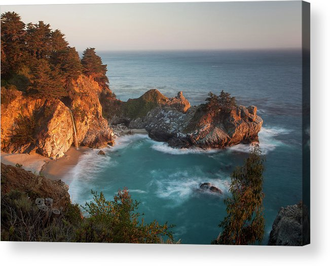 Scenics Acrylic Print featuring the photograph Mcway Falls At Sunset by Sean Duan