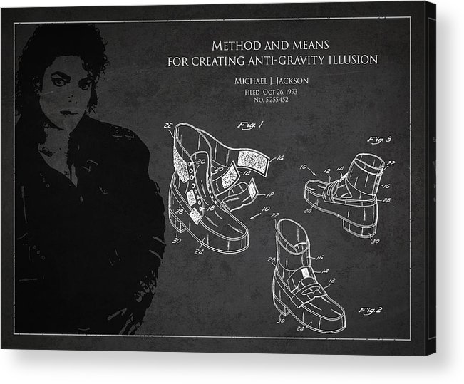 Michael Jackson Acrylic Print featuring the digital art Michael Jackson Patent by Aged Pixel