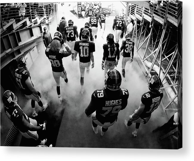 People Acrylic Print featuring the photograph New England Patriots V New York Giants by Al Bello