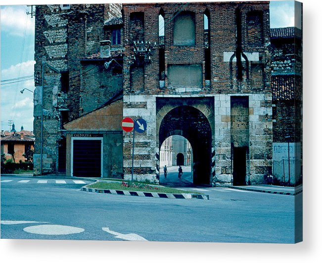 Vicenza Acrylic Print featuring the photograph Old City Gate Vicenza 1962 by Cumberland Warden