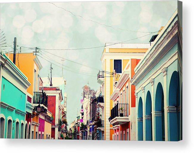 San Juan Acrylic Print featuring the photograph Old San Juan Special Request by Kim Fearheiley