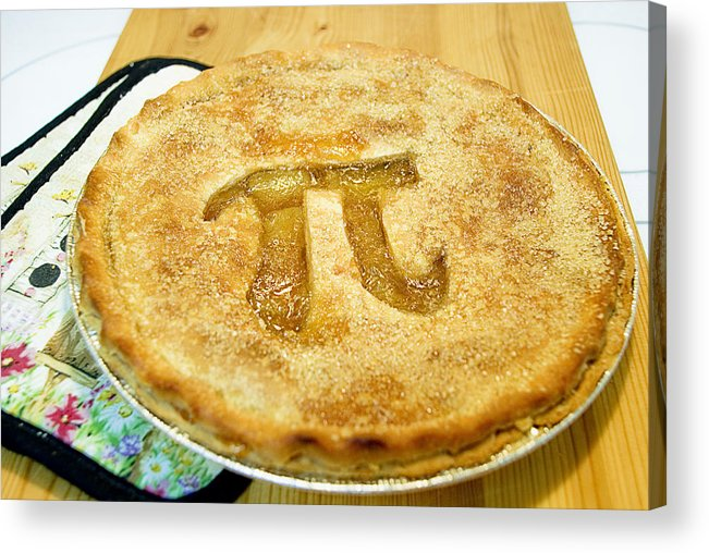 Wood Acrylic Print featuring the photograph 'Pi' Pie by Perry Gerenday