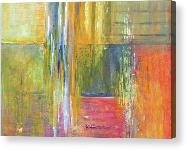 Acrylic Print featuring the painting Red Yellow Blue by Carol P Kingsley